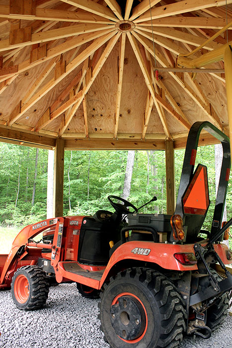 Octagonal Tractor Shed