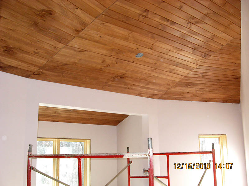 Update Wood Plank Ceilings