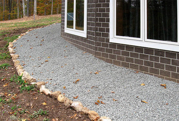 Gravel around house drainage house plan 2017 for Home designs unlimited llc