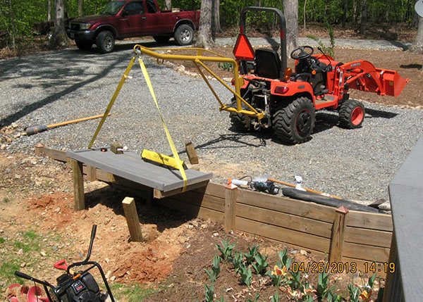 Tractor With Platform : Project landscaping